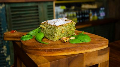 Recipe: Green Spinach cake