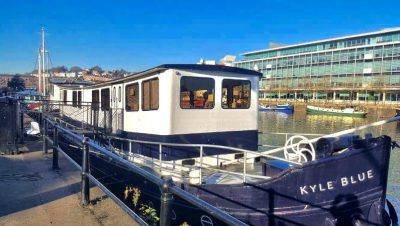A tour of the UK's first luxury hostel boat