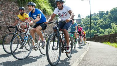Rees joins peloton up Bridge Valley Road