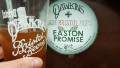 Homegrown hops used to create community beer