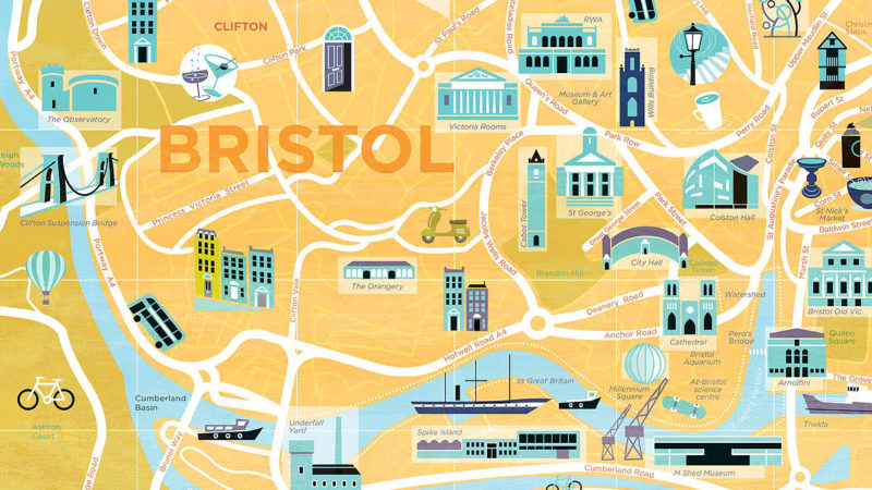 Bristol independents map