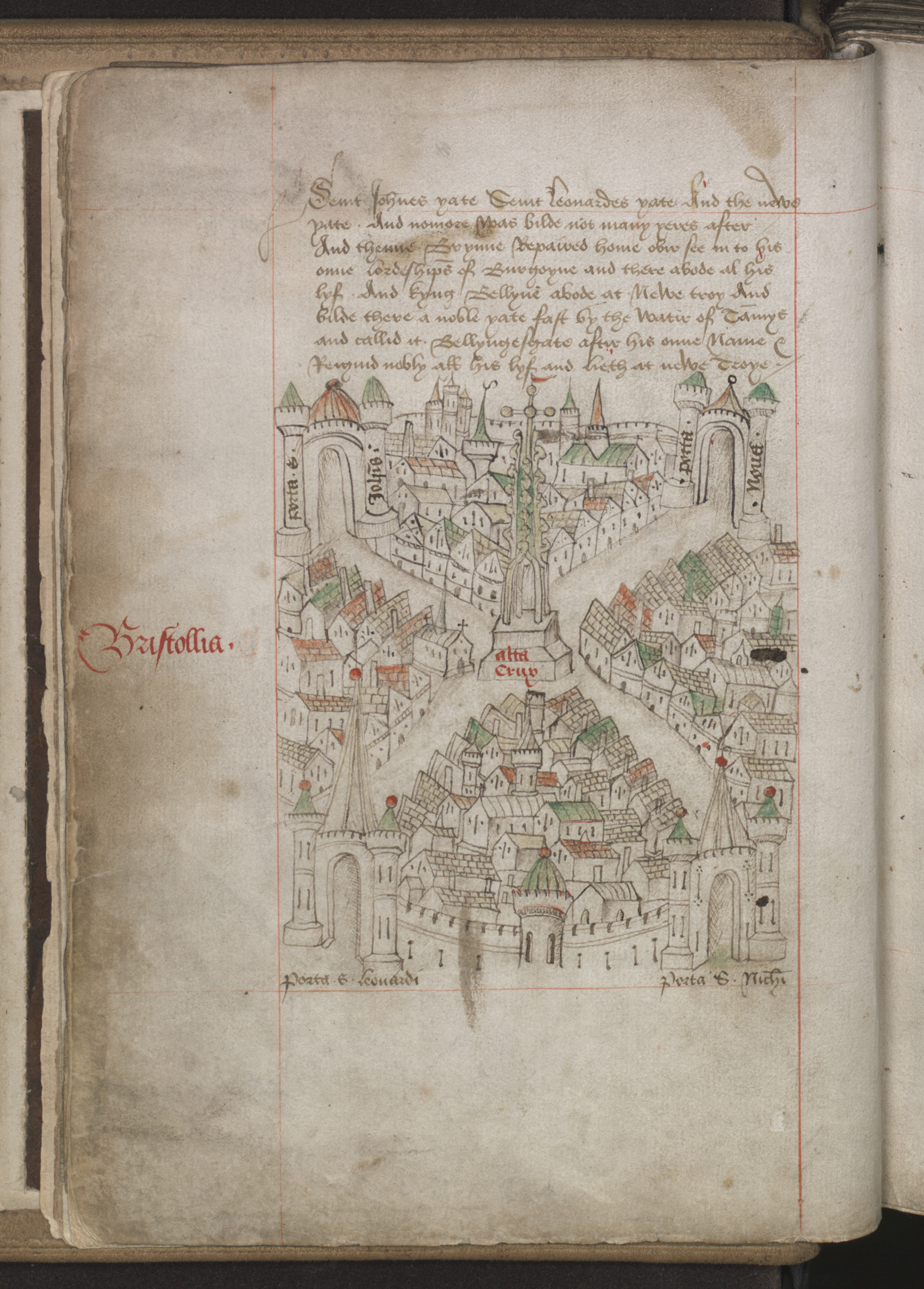 Ricart's 1480 map of Bristol is the oldest surviving city map in the UK