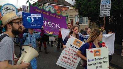 Hundreds march in support of NHS