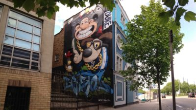 Cheo and Soker paint huge Wallace and Gromit mural