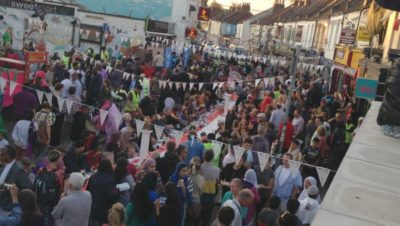 Celebrating the end of Ramadan on St Mark's Road