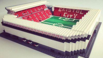 Ashton Gate stadium made out of Lego