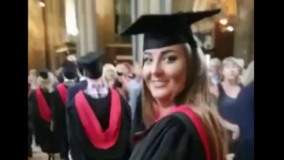 When your dad films the wrong woman on graduation day