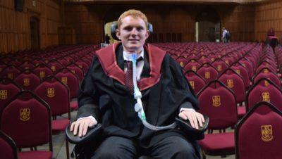 Tetraplegic student gains first class degree