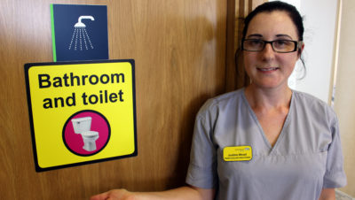 Dementia-friendly toilets at Southmead Hospital