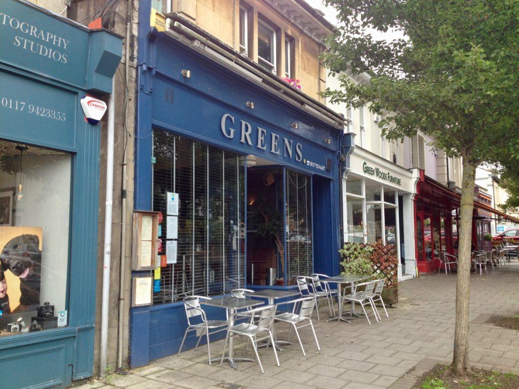 Old favourite greens restaurant for Greens dining room zetland road bristol