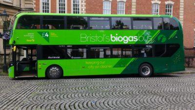 Bristol launches first double-decker biogas bus