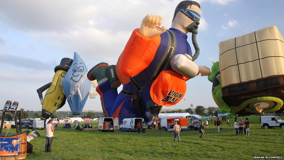 A wide range of hot air balloons, from the bizarre to the beautiful, will be on show at Ashton Court this weekend