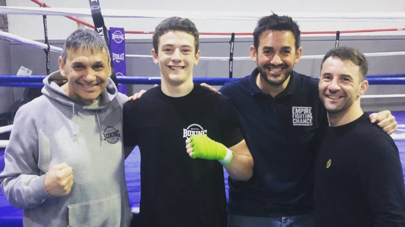 Father and son boxers Lee and Anton Haskins to share same card