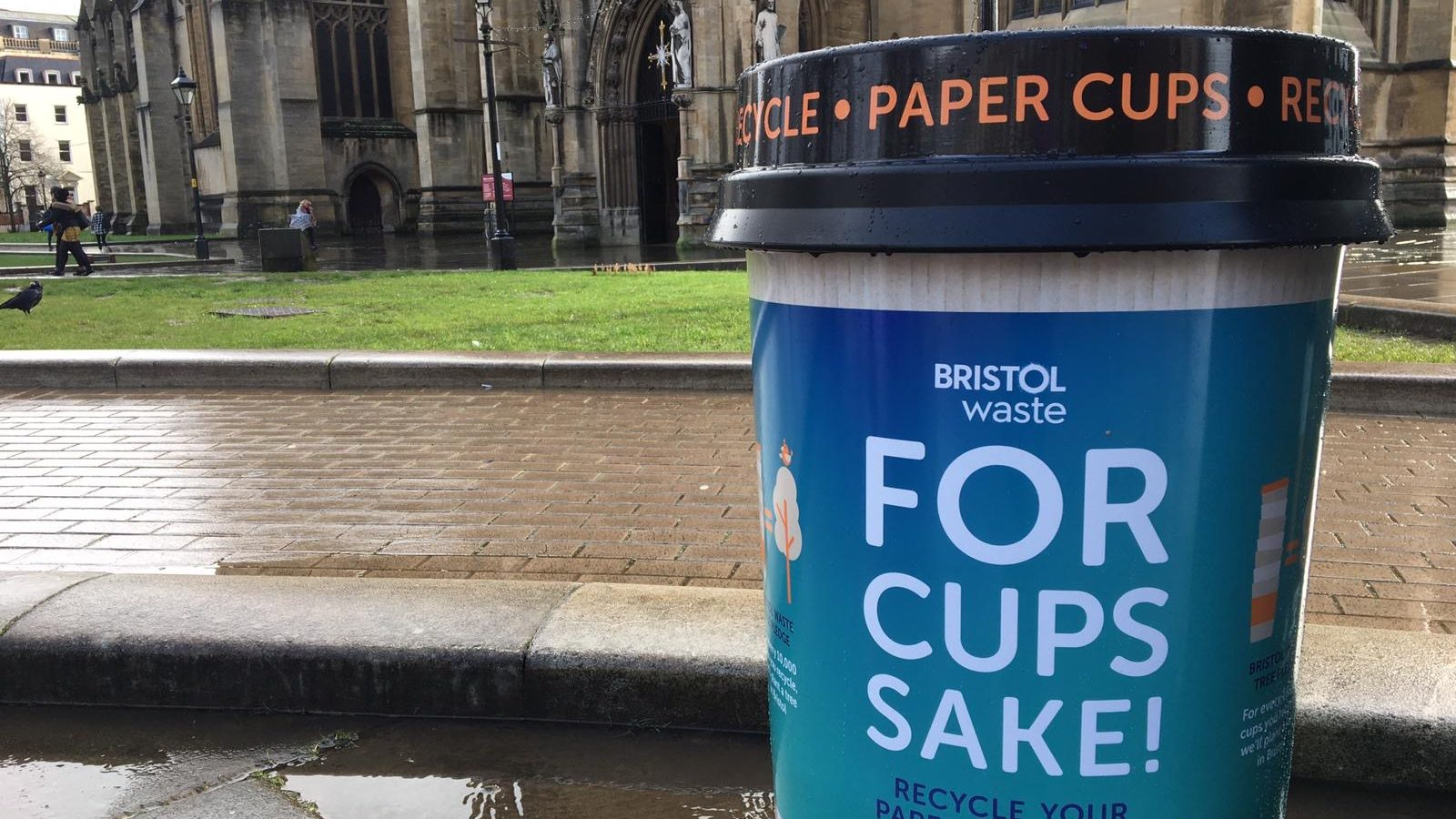 New bins to prevent millions of disposable cups in Bristol