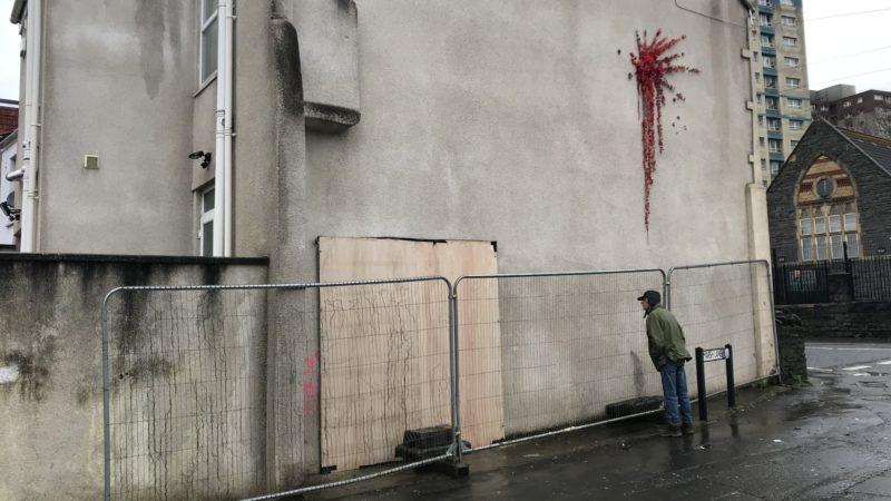 Banksy in Barton Hill boarded up
