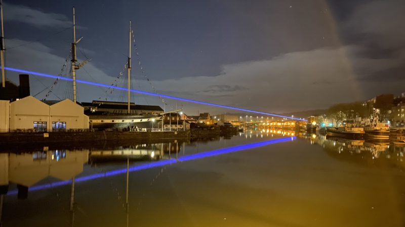 Story behind the mystery light show across Bristol harbour