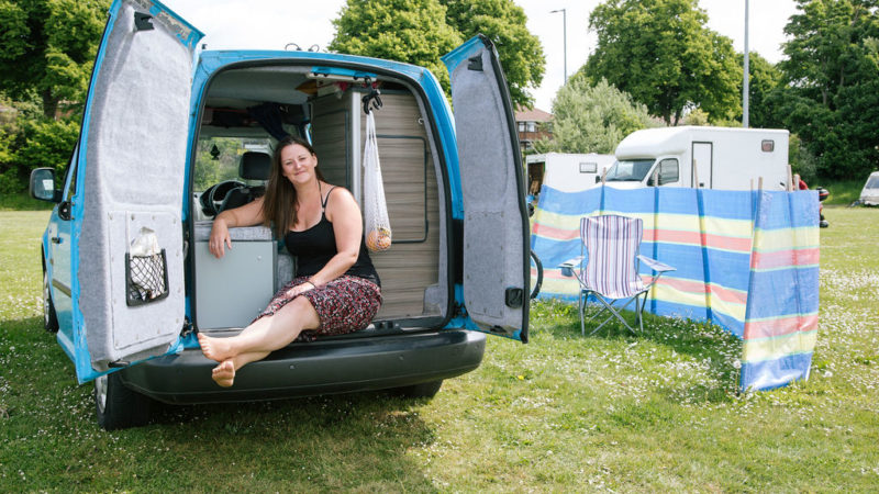 'It's an unlikely alliance between the footballers and the van dwellers'