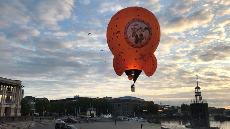 Wallace and Gromit's moon rocket makes maiden balloon flight
