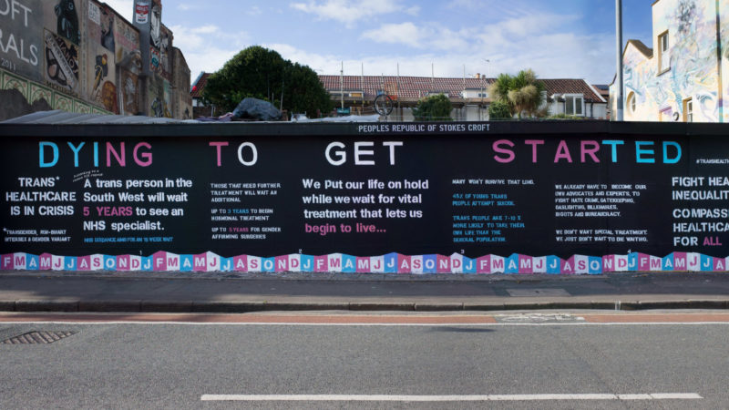 Mural shines a light on the shocking state of healthcare for transgender people